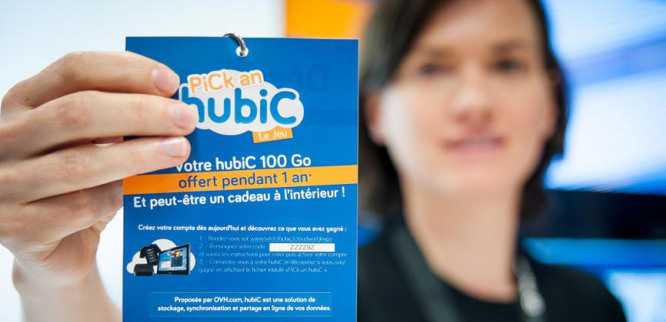 The game « Pick an hubiC » offered a 100Gb hubiC account to each visitor.
