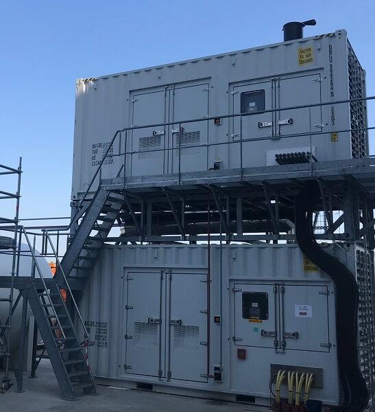 2 des 10 générateurs du centre de données SBG3