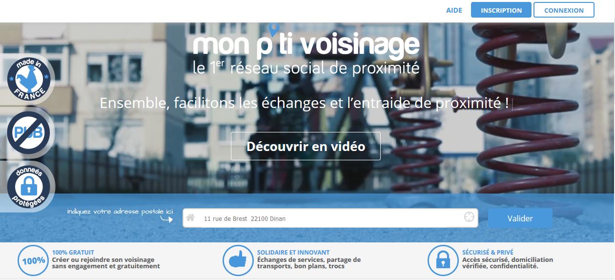 Le réseau social développé par la startup Mon p'ti voisinage revendique près de 100 000 utilisateurs.