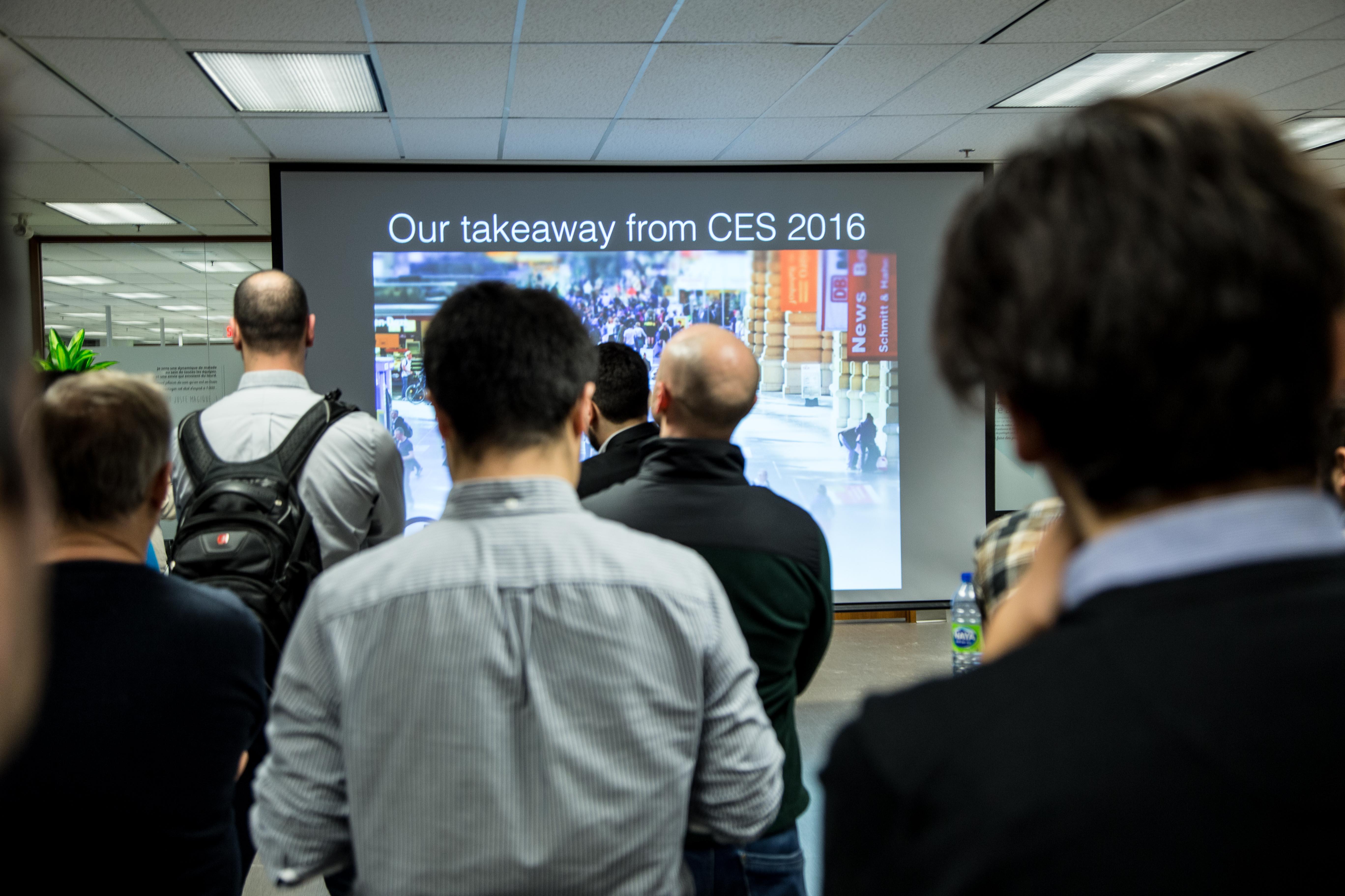 Après un compte-rendu complet du CES, plusieurs entrepreneurs se sont succédés sur scène pour présenter leur projet.