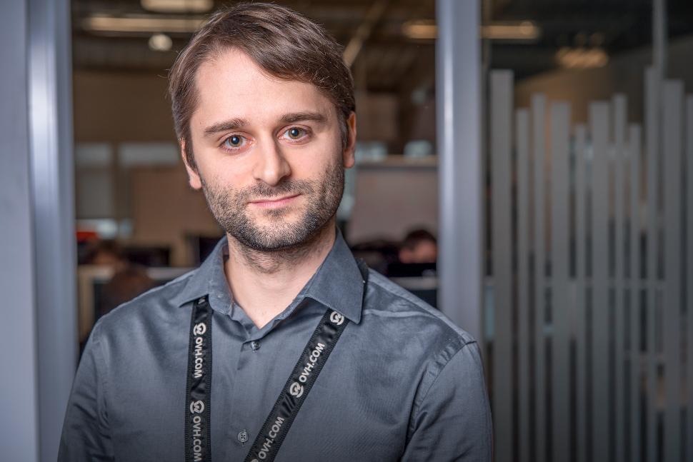 Stéphane Lesimple, responsable de la sécurité des systèmes d'information chez OVH.
