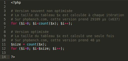 Beaucoup d'applications codées en PHP sont l'œuvre de débutants, raison pour laquelle le code est souvent mal optimisé.