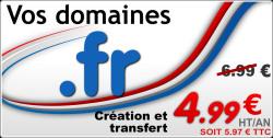 Réservez vos domaines .fr