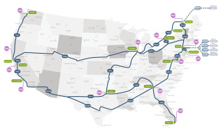 OVH US network map